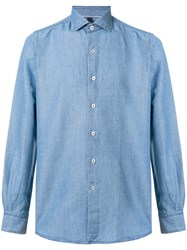 Orian Longsleeved Button Shirt Blue