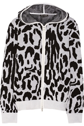 Baja East Leopard Patterned Cashmere Hooded Top