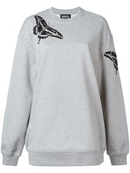 Markus Lupfer Butterfly Embroidered Sweatshirt Grey