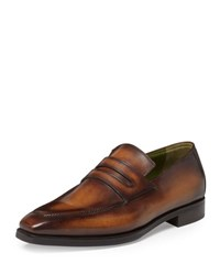 Berluti Andy Leather Loafer Tobacco Brown