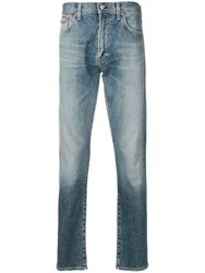 Citizens Of Humanity Stonewashed Straight Leg Jeans Blue