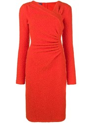 Ungaro Emanuel Vintage Fitted Knit Dress Yellow And Orange