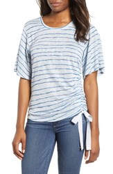 Wit And Wisdom Ruched Side Ribbon Tee Starlight