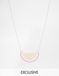 Tatty Devine Citrus Slice Necklace Exclusive Pink