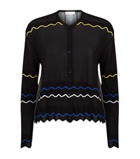 Peter Pilotto Metallic Contrast Cardigan Female Black