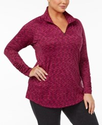 Columbia Plus Size Outerspaced Space Dyed Half Zip Top Deep Blush