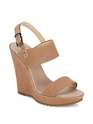 Vince Camuto Garadin Leather Wedge Sandals Cashmere