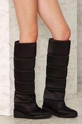 Jeffrey Campbell Squall Quilted Boot Black