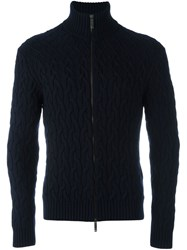 Etro Cable Knit Cardigan Blue