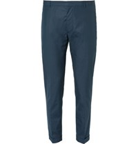 Jil Sander Adriano Slim Fit Cotton Trousers Navy