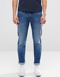 Pepe Jeans Hatch Slim F37 Top Blue Medium Wash Top Blue Med
