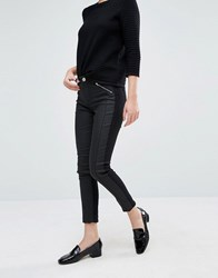Oasis Stitch Detail Skinny Jean Black