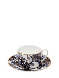Roberto Cavalli Azulejos Set Of 6 Tea Cups And Saucers