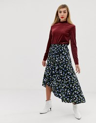 Mbym Floral Skirts Immy Print Multi