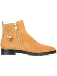 Kenzo 'Totem' Ankle Boots Nude And Neutrals