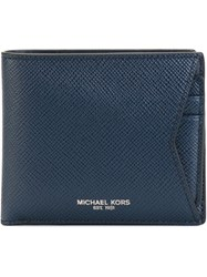 Michael Kors 'Harrison' Fold Over Wallet Blue