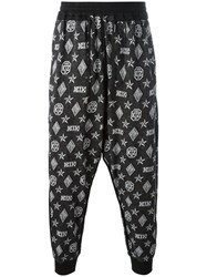 Ktz Monogram Harem Trousers Black