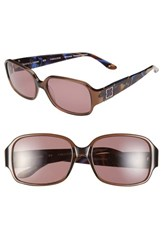 Women's Bcbgmaxazria 'Fabulous' 54Mm Sunglasses Brown Transparent