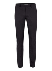 Topman Black Textured Ultra Skinny Fit Suit Trousers