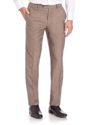 Saks Fifth Avenue Straight Leg Pants Brown
