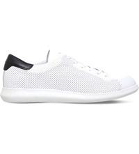 Kg By Kurt Geiger Clinton Leather Low Top Trainers White