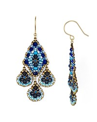 Miguel Ases Chandelier Drop Earrings Blue