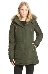 Women's Sam Edelman 'Jinny' Down And Feather Fill Parka With Faux Fur Trim