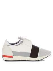 Balenciaga Race Runners Panelled Low Top Trainers White Multi