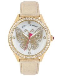 Betsey Johnson Women's Gold Tone Butterfly Metallic Leather Strap Watch 42Mm Bj00517 11