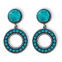 Platadepalo American Indian Turquoise Earrings Blue