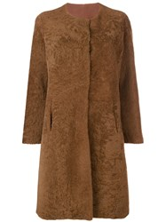 Giorgio Brato Shearling Coat Brown