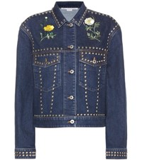 Stella Mccartney Embellished Denim Jacket Blue