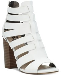 Sam Edelman Circus By York Caged Gladiator Sandals Women's Shoes White