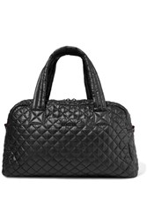 M Z Wallace Mz Jimmy Leather Trimmed Quilted Shell Tote Black