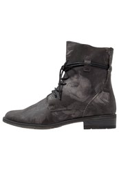 Marco Tozzi Laceup Boots Black Light Grey