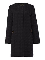 Linea Transitional Edge To Edge Quilted Coat Black