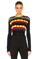 Marni Crew Neck Sweater In Blue Green Red Yellow Blue Green Red Yellow