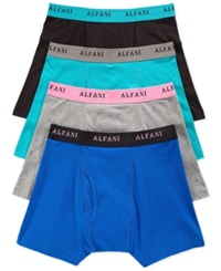 Alfani 4 Pack Boxer Briefs Blue Grey Assorted