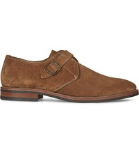 Aldo Okanagan Suede Monk Shoes Rust