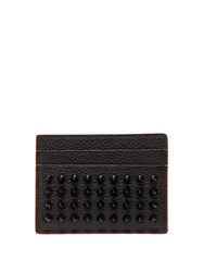 Christian Louboutin Kios Spiked Leather Cardholder Black