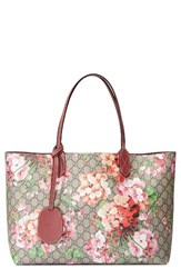 Gucci Medium Gg Blooms Reversible Canvas And Leather Tote