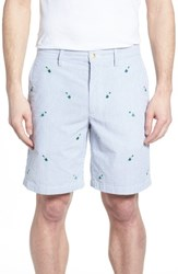Southern Tide Embroidered Seersucker Shorts Seven Seas Blue