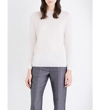 Max Mara S Fine Knit Cashmere And Silk Blend Jumper Ice