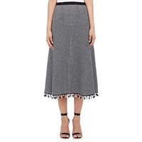 Derek Lam Crochet Long Skirt Navy White