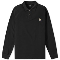 Paul Smith Long Sleeve Regular Fit Zebra Polo Black