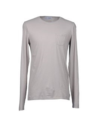 Lo Not Equal Long Sleeve T Shirts Light Grey