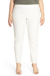 Plus Size Women's Eileen Fisher Stretch Knit Slim Leg Pants Bone