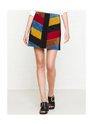 Mih Jeans Mih Chevron Print Skirt Multicolour