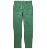 The Workers Club Garment Dyed Cotton Twill Chinos Green