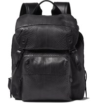 Lanvin Panelled Python And Shell Backpack Black